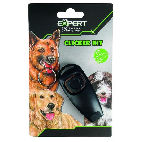 Clicker tréningový s píšťalkou PET EXPERT 7,3x3,2x2,1cm