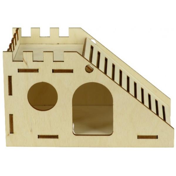 Domček drevený pre škrečka 17x9,5x10cm