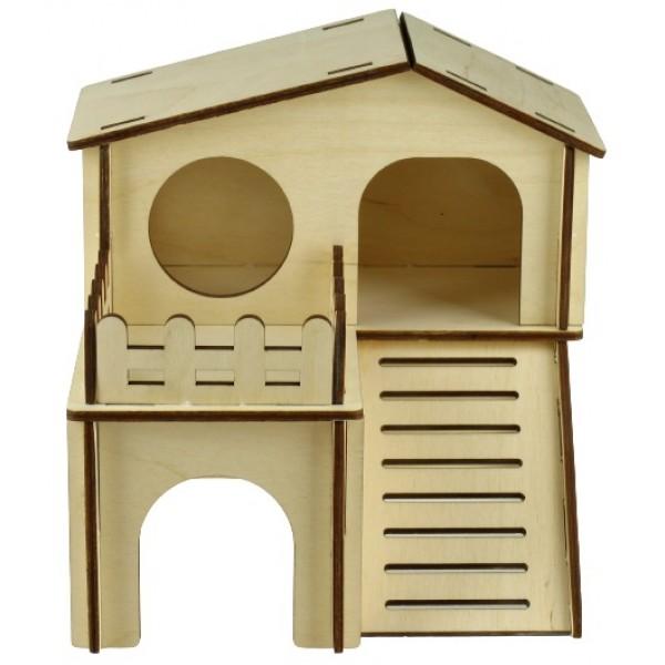 Domček drevený pre škrečka 18x18,5x16cm
