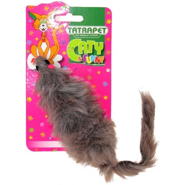 Hračka pre mačku plyšová myš mix 15cm