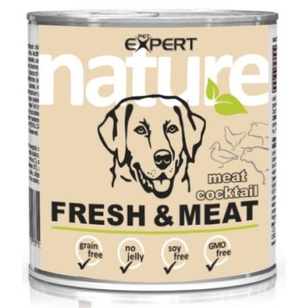 Konzerva pre dospelého psa, mäsový koktail,800g nature PET EXPERT