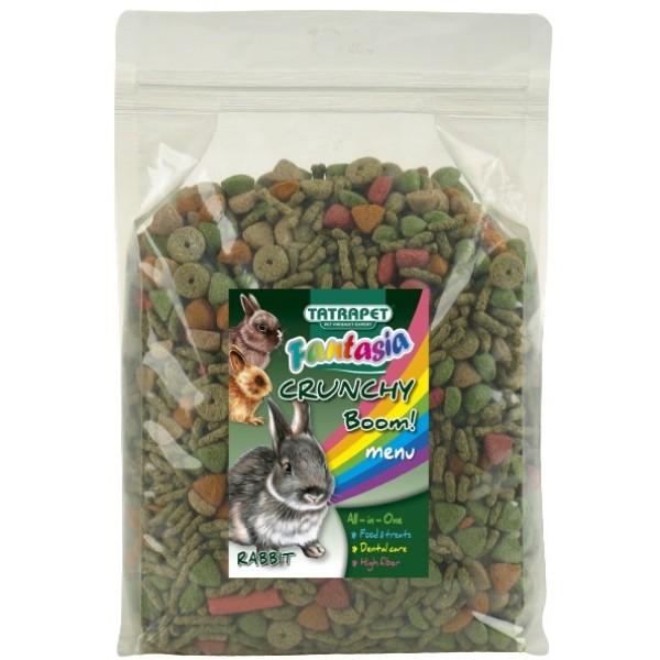 Krmivo králik, crunchy boom! 650g, Fantasia