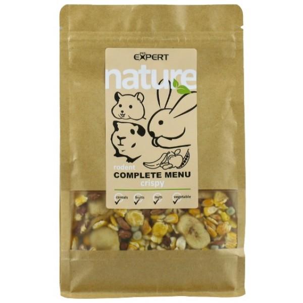 Krmivo pre hlodavce - complete menu - crunchy, NATURE 600g, PETEXPERT