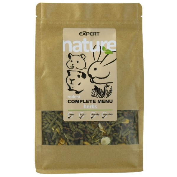 Krmivo pre hlodavce - complete menu - herbs, NATURE 500g, PETEXPERT