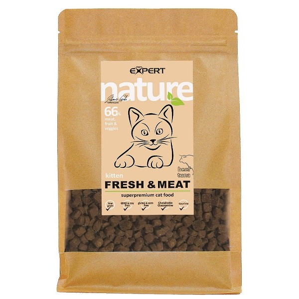 Krmivo pre mačky, Hovädzie KITTY 1,5kg, nature PET EXPERT