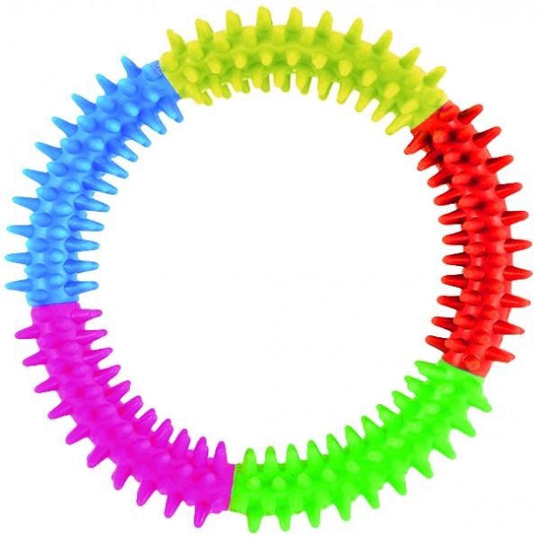 Kruh s výstupkami z tvrdej gumy DENTAL GUM 15cm