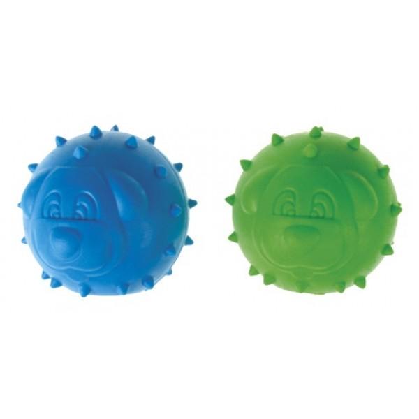 Lopta pískajúca z tvrdej gumy DENTAL GUM 6,5cm
