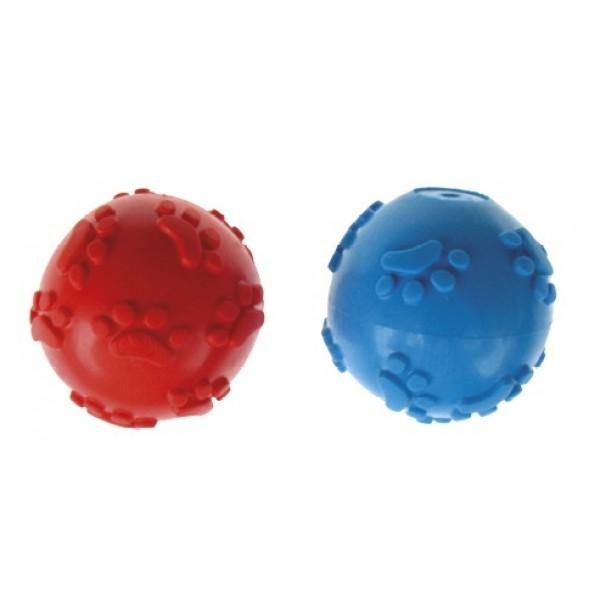 Lopta pískajúca z tvrdej gumy DENTAL GUM 6cm