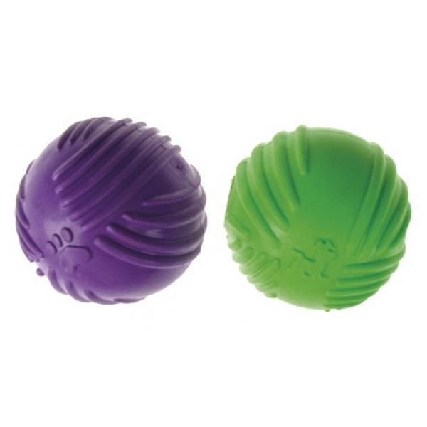 Lopta pískajúca z tvrdej gumy DENTAL GUM 7cm