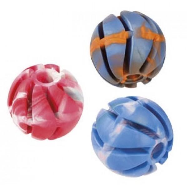 Lopta-špirála z tvrdej gumy DENTAL GUM 5cm
