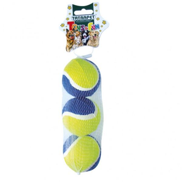 Lopta tenisová TOYS&FUN 6cm/ 3ks v balení