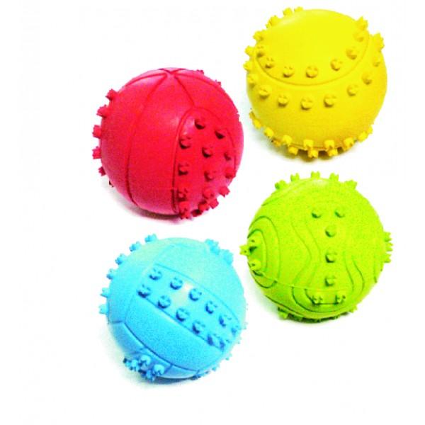 Lopta z tvrdej gumy DENTAL GUM 6,5cm