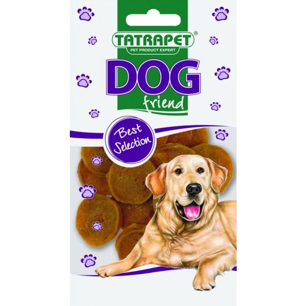 Mäso - kuracie krúžky DOG friend 50g