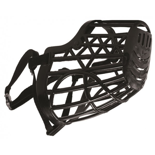 Náhubok plastový s nylonovým remienkom č.6 čierny Pet Expert