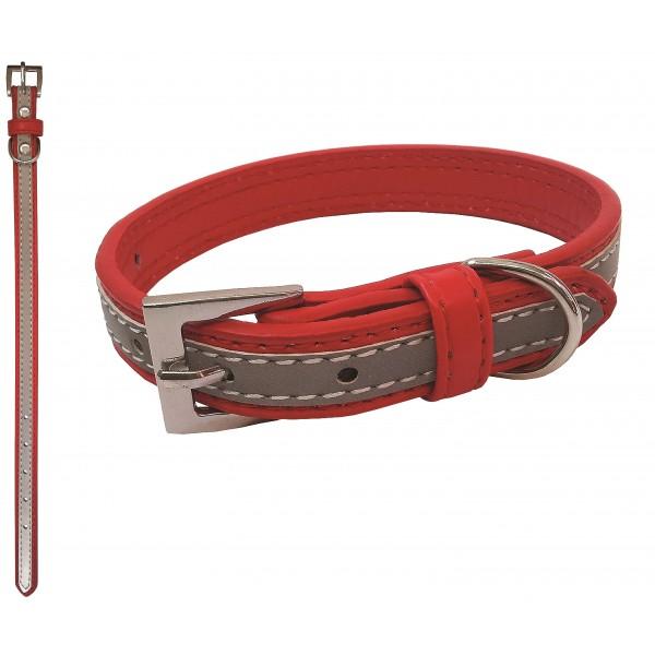 Obojok červený reflexný 1,6x35cm BENNY