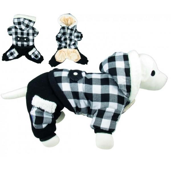 Overal s kapucňou Black&White 25cm