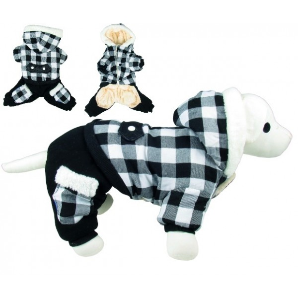 Overal s kapucňou Black&White 40cm