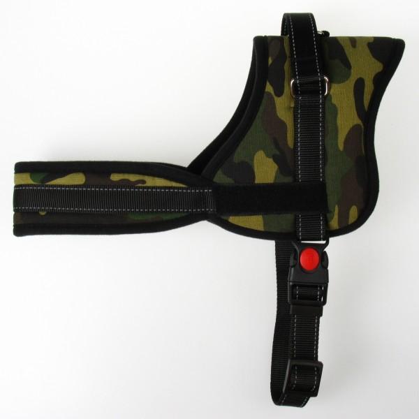 "Postroj nylonový ""CAMOUFLAGE"" pre psa 25mm/60-75cm PET EXPERT  N"