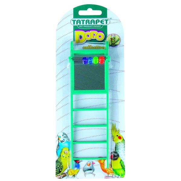 Rebrík so zrkadielkom pre vtáky 22cm DODO collection
