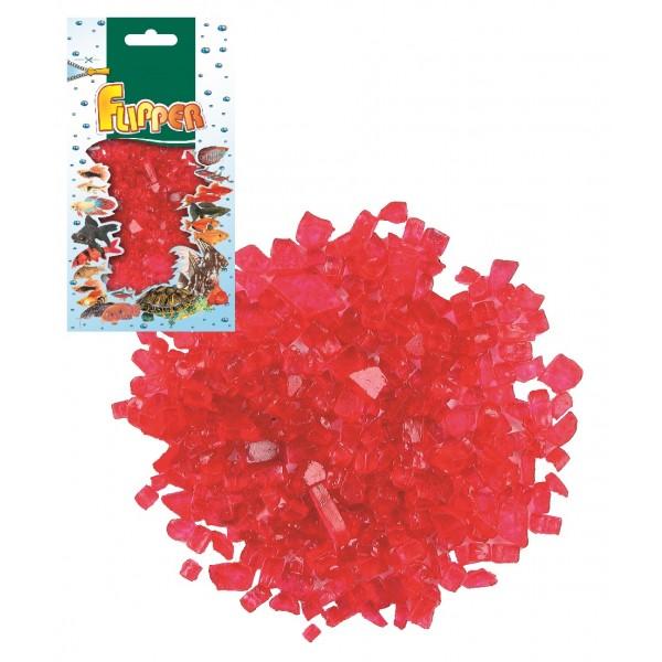 Sklenené kamienky červené 250g Flipper