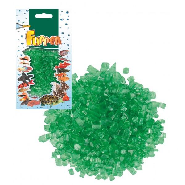 Sklenené kamienky zelené 250g Flipper