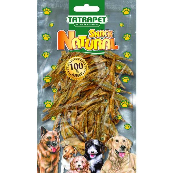 Sušené rybky pre psa 100g, SNACK NATURAL