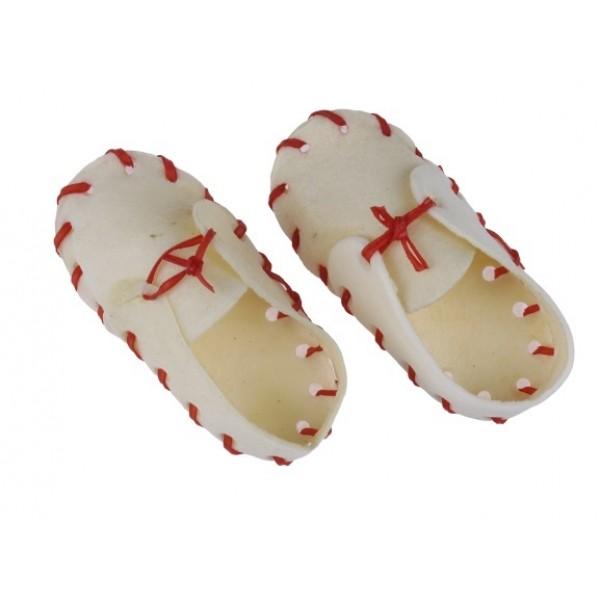 Topánka byvolia biela 6cm/ 50ks v balení