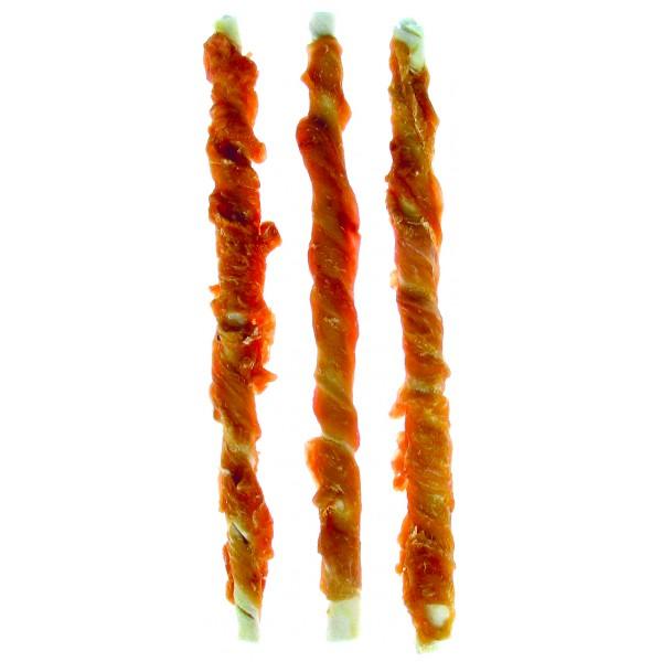 Tyčinky byvolie biele s kuracím mäsom 8-9mm x 20cm/ 20ks v balení