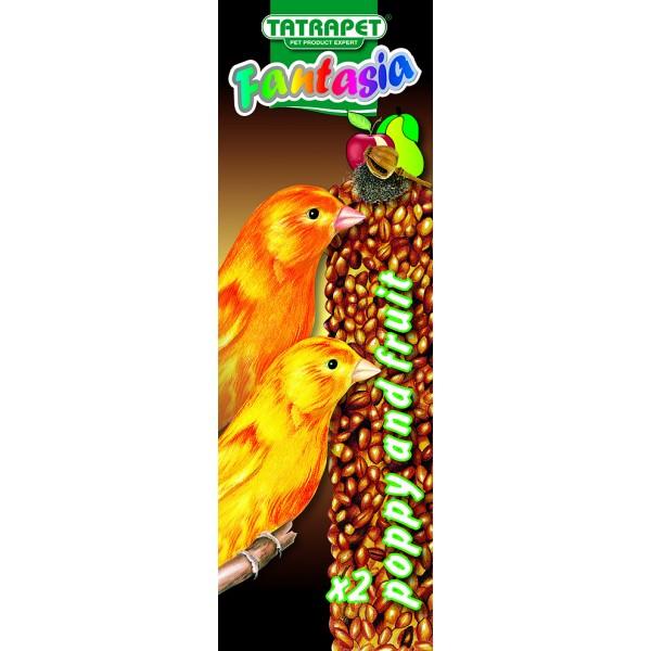 Tyčinky pre kanáriky mak/ovocie 2ks Fantasia