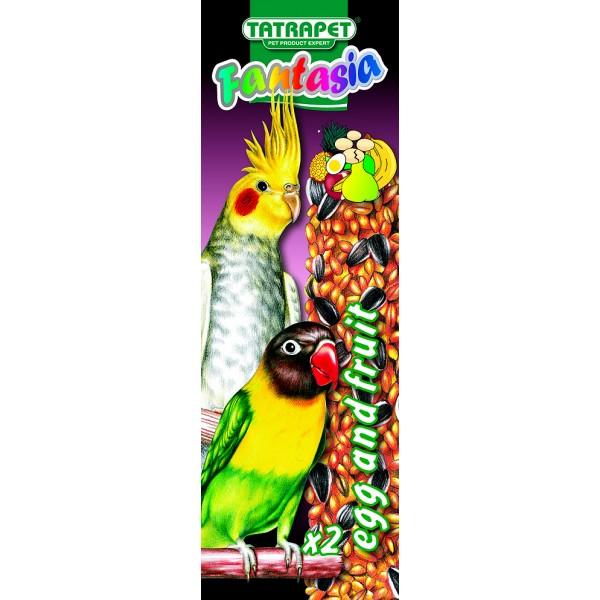 Tyčinky pre papagáje ovocie/vajce 2ks Fantasia