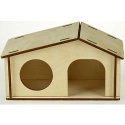 Domček drevený pre hlodavce 17,5x9,8x10cm