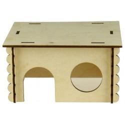 Domček drevený pre hlodavce 18,5x15,5x10cm