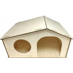Domček drevený pre králika 16,8 x 32,5 x 23,3cm