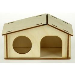 Domček drevený pre škrečka 13,5x7,5x7,5cm