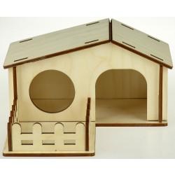 Domček drevený pre škrečka 19x17,5x10cm