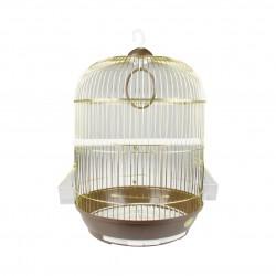 Klietka pre vtáky zlatá 33x56cm DODO collection