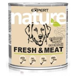 Konzerva pre dospelého psa,losos s mäsovým koktailom,800g nature PET EXPERT