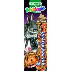 Tyčinky pre hlodavce orechy/sušienky 2ks Fantasia