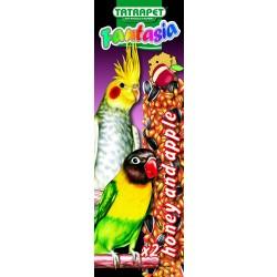 Tyčinky pre papagáje jablko/med 2ks Fantasia